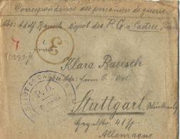 WWI PRIGIONIERI POW CAMP  DEPOT CASTRES FRANCE 1918 GERMANY STUTTGART - 1900-44 Victor Emmanuel III.