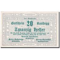 Billet, Autriche, Randegg, 20 Heller, Valeur Faciale 1921-06-30 SPL FS 817 - Autriche