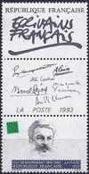 France 1993 -  Mi 2948A - YT 2799 ( French Writer, Guy De Maupassant )  MNH ** + Label - France