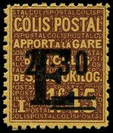 """** FRANCE - Colis Postaux - Spink 155A, Non émis Surcharge """"E"""", 2.30/1.45fr. Brun (tirage 50), Illustration Du Spink - Colis Postaux"""