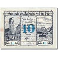 Billet, Autriche, Zell Am See, 10 Heller, Château 1920-10-31, SUP FS 1270 II - Autriche