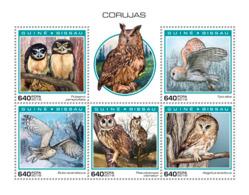 Guinea Bissau   2018  Fauna Owls    S201901 - Guinea-Bissau
