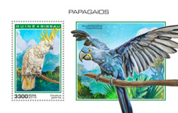 Guinea Bissau   2018  Parrots  Fauna   S201901 - Guinea-Bissau