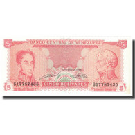 Billet, Venezuela, 5 Bolivares, 1989, 1989-09-21, KM:70b, SPL - Venezuela