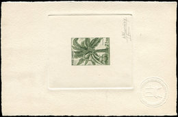 EPA CAMBODGE - Poste - 166, épreuve D'artiste En Olive, Signée: 7.50r. Palmier Coco - Cambodge