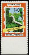 ** CENTRAFRICAINE - Poste Aérienne - 86, Non Dentelé Accidentel En Bas: Sériciculture - Centrafricaine (République)