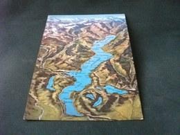 CARTA GEOGRAFICA  LAGO MAGGIORE VISTA AEREA - Carte Geografiche