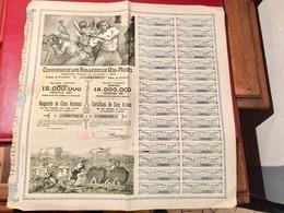 COMPAÑIA  De  Las  HULLERAS  De  UJO - MIERES ------   Certificat  De  5  Actions   De  25  Pesetas  Oro - Mines