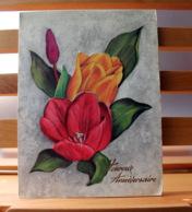 Piece Sur Le Theme De Bonne Fete Maman - Bouquet De Fleurs Et Papillon - Fête Des Mères