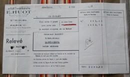 55 SAINT MIHIEL 75 PARIS 11   E. HUOT Fonderie De Cuivre - 1900 – 1949