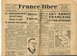 Résistance Libération Journal « France Libre » 6 Avril 1945 - Altri