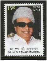 India 2017 Dr. M. G. Ramachandran Film Actor Political Leader 1v MNH - Cinema