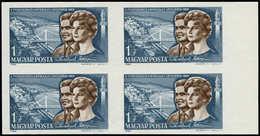 ** HONGRIE - Poste - 1731, Bloc De 4 Non Dentelé, Bdf: Tereskova, Espace - Hongrie