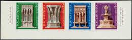 ** HONGRIE - Poste - 2447/50, Bande Non Dentelée Cdf: Journée Du Timbre 1975, Monuments Européens - Hongrie
