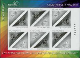 (*) HONGRIE - Poste - 3514/15, Feuillet De 6 Paires En Noir, Non Dentelé, Numéroté: Olympiaphila 95 - Hongrie