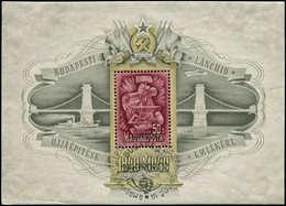 O HONGRIE - Blocs Feuillets - 22, (avec Gomme): 50f. Lilas Pont De Chaines - Hongrie