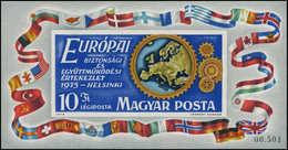 ** HONGRIE - Blocs Feuillets - 119a, Non Dentelé, Numéroté: Conférence Sécurité Européenne 1975 - Hongrie