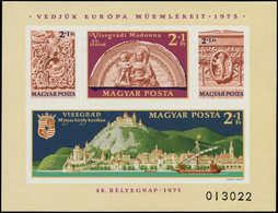 ** HONGRIE - Blocs Feuillets - 121a, Non Dentelé: Journée Du Timbre 1975, Monuments Européens - Hongrie