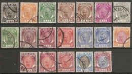 MALAYA - PAHANG 1950- 1956 VALUES TO $1 BETWEEN SG 53 And SG 71 FINE USED Cat £24 - Pahang