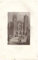 1844 - Gravure Sur Acier - Poitiers (Vienne) - La Cathédrale Saint-Pierre - FRANCO DE PORT - Estampes & Gravures