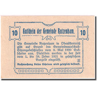 Billet, Autriche, Rutzenham, 10 Heller, Eglise 1920-05-09, SPL, Mehl:FS 858 Ic - Autriche