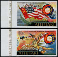** AITUTAKI - Poste - 134/5, Non Dentelés Bdf, (tirage 150): Coopération Spatiale Usa - Urss - Aitutaki