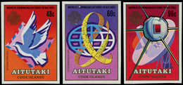 ** AITUTAKI - Poste - 374/6, Non Dentelés, (Tirage 150): Communications, Satellite - Aitutaki