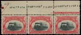 ** ETATS UNIS - Poste - 139, Bande De 3, Bdf Avec Inscriptions: 2c. Train - United States