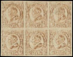 (*) ETATS UNIS - Poste - 259, Bloc De 6 Non Dentelé, Impression Totalement Dégradée (Feuille De Passe): 1.50c. Hading (p - United States