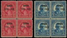 ** ETATS UNIS - Poste - 277/78, Blocs De 4: Hawaï - United States