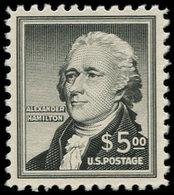 * ETATS UNIS - Poste - 606, 5$ Noir Hamilton - United States