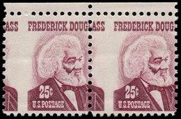 """** ETATS UNIS - Poste - 823, Paire Horizontale, Piquage Vertical à Cheval (""""Ass"""" à Gauche): F. Douglas (Esclavage) - United States"""