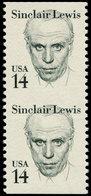 ** ETATS UNIS - Poste - 1564, Paire Verticale Non Dentelée Horizontalement: 14c. Sinclair Lewis - United States