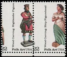 ** ETATS UNIS - Poste - 1678/9, Paire, Piquage Vertical à Cheval: Figures De Proues - United States