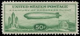 ** ETATS UNIS - Poste Aérienne - 17, Bel Exemplaire: 50c. Vert Zeppelin - United States