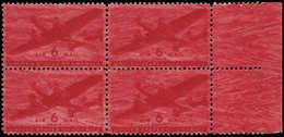 ** ETATS UNIS - Poste Aérienne - 26, Bloc De 4, Impression Totalement Maculée, Bdf: 6c. Avion - United States