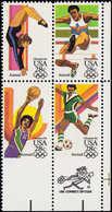 ** ETATS UNIS - Poste Aérienne - 99/102, Bloc De 4, Bdf, Non Dentelé Accidentel En Bas, Rare: J.O De Los Angeles, Basket - United States