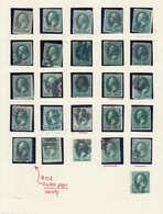 O ETATS UNIS - Lots & Collections - Lot De + De 200 Timbres, Cachets Divers Dont Fancy, Grilles, Numéros, Lettres, (1870 - United States