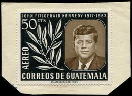 ESS GUATEMALA - Poste Aérienne - 307, Essai Type Non Adopté En Vert Et Brun, (moins De 10 Connus): 50c. Kennedy - Guatemala