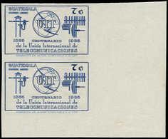 ** GUATEMALA - Poste Aérienne - 431, Paire Non Dentelée, (1 Feuille De 30 Existe): 7c. Uit - Guatemala