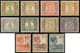 * INDE NEERLANDAISE - Poste - 142A/142 M, Complet 11 Valeurs: Foire Bandoeng - Indes Néerlandaises