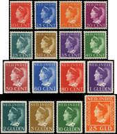 * INDE NEERLANDAISE - Poste - 254/60, Complet 16 Valeurs, Série Courante 1941 - Indes Néerlandaises