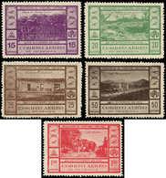 (*) NICARAGUA - Poste Aérienne - 47/51, Complet, Signés, (tirage 1000): Train Leon/Sauge. (Tirage 1000) - Nicaragua