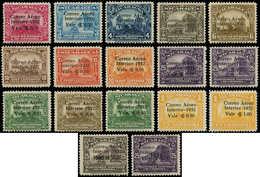 * NICARAGUA - Poste Aérienne - 52/67, Complet 17 Valeurs: Interior 1932 - Nicaragua
