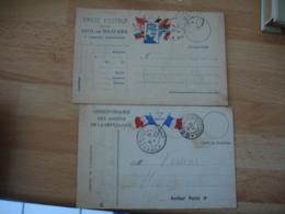 Lot De 2 Tresor Et Postes 109 Cachet Franchise Postale Militaire Guerre 14.18 - Marcophilie (Lettres)