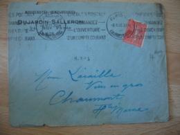 Perfin C E Nouveautes Genealogiques Dujardin Salleron  Enveloppe Commerciale - France