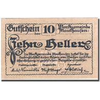 Billet, Autriche, Mauthausen, 10 Heller, Paysage 1920-12-31, SPL, Mehl:FS 601Ia - Autriche