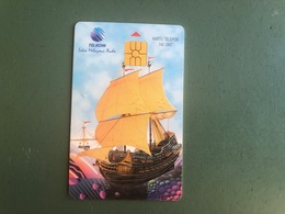 Indonesia - Chip Card With Sailing Ship - Indonesia