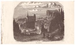 1844 - Gravure Sur Bois - Poitiers (Vienne) - Vue Générale - FRANCO DE PORT - Estampes & Gravures
