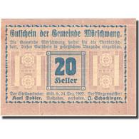 Billet, Autriche, Morschwang, 20 Heller, Valeur Faciale 1920-12-31, SPL FS 629b - Autriche